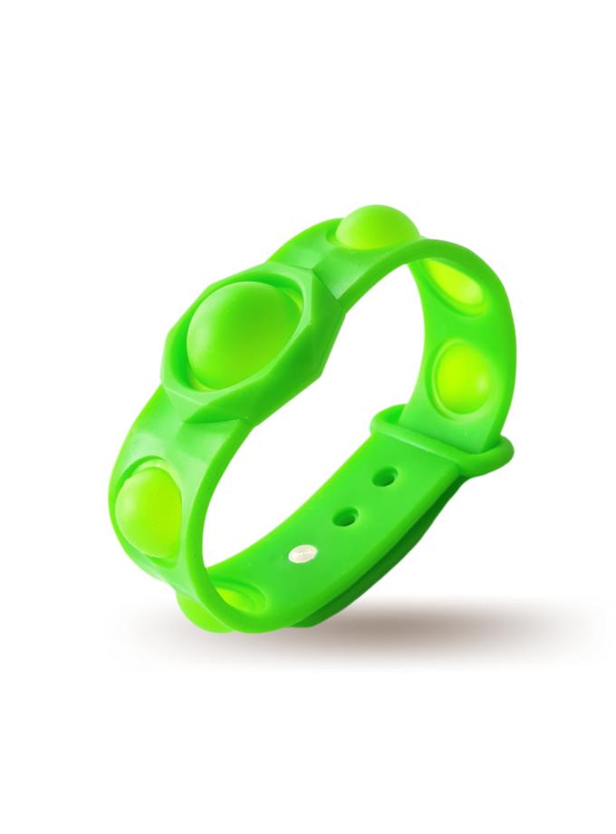 Braccialetto Pop It Verde in silicone - misura grande
